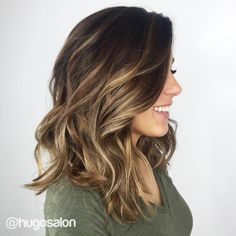 Dark Brown Hair With Golden Brown Balayage                                                                                                                                                                                 More