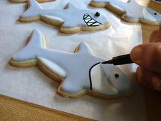 Shark cookie - how to