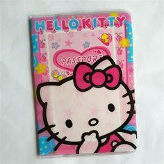 girls like Fashion PVC Leather Passport Holder,Mickey and Minnie cartoon hello kitty Travel Passport Cover Case