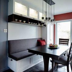 50 Ideas Booth Seating With Storage Kitchen Banquette Booth Seating In Kitchen, Banquette Seating In Kitchen, Kitchen Booths, Kitchen Benches, Dining Nook, Kitchen Nook, Dining Room Design, Kitchen Living, New Kitchen