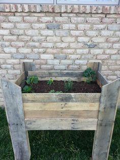Pallet Raised Bed Garden | My first pallet project: raised veggie garden