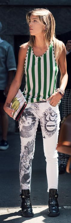 Printed Skinnies by Citizen Couture