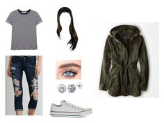 """""""Night Out"""" by brigidkilloran ❤ liked on Polyvore featuring T By Alexander Wang, American Eagle Outfitters, Converse and BERRICLE"""