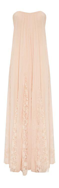 FRANCESCA CENTER GATHERED STRAPLESS LONG DRESS #weddingdressing