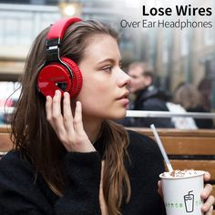 COWIN Active Noise Cancelling Bluetooth Headphones with Microphone Deep Bass Wireless Headphones Over Ear, Comfortable Protein Earpads, Playtime for Travel Work TV Computer Phone - Red Headphones With Microphone, Headphone With Mic, Over Ear Headphones, Noise Cancelling Headphones, Bluetooth Headphones, Gaming Headset, Cell Phone Accessories, Bass, Protein