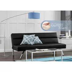 149 kebo deluxe futon with memory foam black essential home cruz convertible futon charcoal   home      rh   pinterest