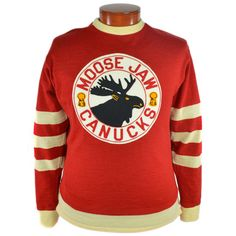 Ebbets sells an authentic reproduction of the original 1946 Moose Jaw Canucks Hockey Sweater. Knitted in our Seattle workshop. This jersey is as authentic as they come! Hockey Shirts, Hockey Sweater, Hockey Logos, Tee Shirts, Sports Uniforms, Sports Jerseys, Nfl Highlights, Hockey Pictures, Field Hockey