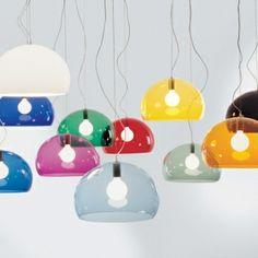 FL/Y pendant lamps by Kartell.