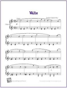 Waltz (Kabalevsky) | Free Sheet Music for Easy Piano - http://makingmusicfun.net/htm/f_printit_free_printable_sheet_music/kabalevsky-waltz-piano.htm