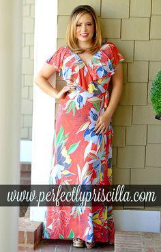 #floral #trendy #look #plussize #curvy #boutique #maxi
