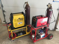 MIG and TIG welding carts