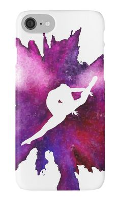 Gymnast Explosion Silhouette Galaxy by Flexiblepeople