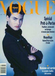 Linda Evangelista by Steven Meisel Vogue Paris August 1989