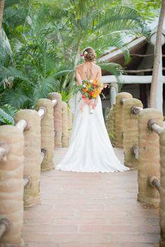 Amazing Neckline of the back  perfect beach wedding dress.
