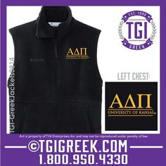 TGI Greek - Alpha Delta Pi - Colombia Vest #tgigreek #alphadeltapi