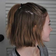 Ponytail Style for Short Hair