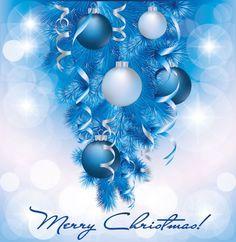 christmas card blue - Szukaj w Google