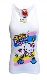 WebUndies.com Classic Hello Kitty Black Tank Top
