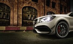 Experience the Mercedes-AMG CLA 45 and all that its 2.0-Liter 4-Cylinder Turbo has to offer - overstep your boundaries with ease. [Fuel consumption combined: 7.3-6.9 l/100km   CO2 emission combined: 171-162 g/km   http://amg4.me/Efficiency-Statement]