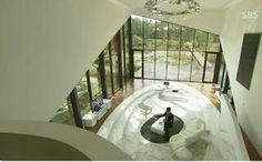 """마임비전빌리지 aka Maiim Vision Village. Filming location for Kdrama titled """"Secret Garden"""". Overview of the main living room."""
