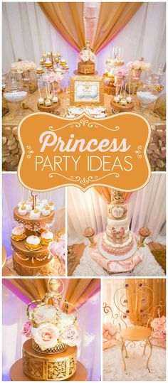 Loving this pink and gold royal princess party! See more party ideas at CatchMyParty.com!