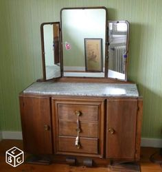 commode coiffeuse ancienne
