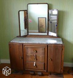 Ancienne commode coiffeuse avec grand marbre ameublement for Coiffeuse avec miroir ancienne