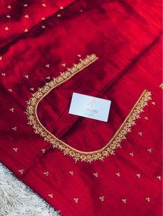 Cutwork Blouse Designs, Simple Blouse Designs, Bridal Blouse Designs, Blouse Neck Designs, Colorful Rangoli Designs, Hand Work Blouse Design, Half Saree Designs, Designer Blouse Patterns, Maroon Saree