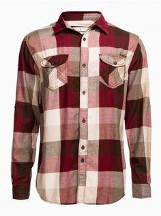 Chemise droite à carreaux - Chemise vêtements - VÊTEMENTS - HOMME