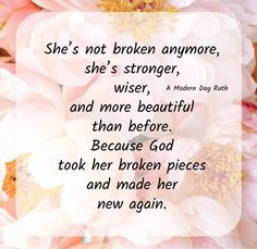 I am no longer defined by my mistakes. God has forgiven me and washed my sins away. By His grace I am made new.