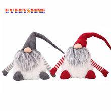 Vianočný darček bez tváre Santa Plyšová bábika Vianočné Navidad Vianočné ozdoby pre domáce dekorácie vianočného stromu SD389 (Čína)