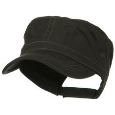 Adjustable Trendy Army Style Cap - Charcoal