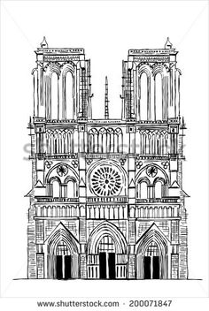 Notre-dame Cathedral Drawing For Kids - Yahoo Image Search Results