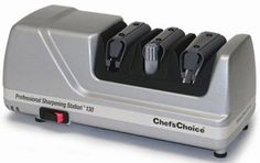 The Chef's Choice 130 is the best knife sharpener, a simple easy to use and highly functional sharpening station that is very useful especially considering that it is able to handle a number of tasks that include steeling strops and also sharpening.