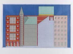 Aldo Rossi : Berlin Friedrichstrasse  | Image © Heirs Aldo Rossi, courtesy Fondazione Aldo Rossi