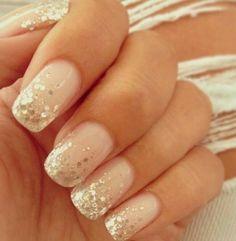 Glitter topped