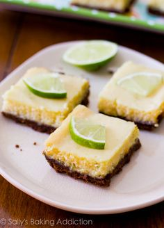 6 ingredient Key Lime Pie Squares. These are so easy to make! Much easier than key lime pie