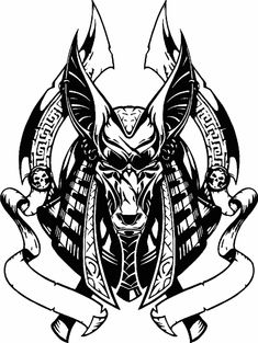 Anubis, Egyptian God of Afterlife - The Patron God of Lost Souls in Egyptian Mythology God Tattoos, Dream Tattoos, Future Tattoos, Body Art Tattoos, Sleeve Tattoos, Sketch Tattoo Design, Tattoo Sketches, Tattoo Designs, Anubis Tattoo