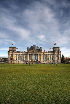 Reichstag, Berlin, Germany. Great view on the skyline, especially at sunset. Better going there in the late afternoon or evening: the lines to get in will be shorter.