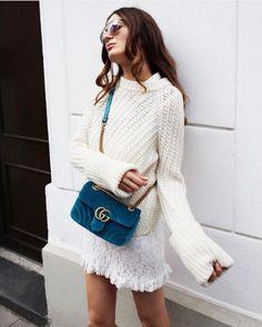 Gucci Velvet GG Marmont Bag 3
