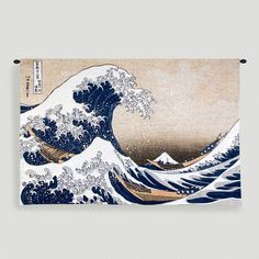 One of my favorite discoveries at WorldMarket.com: Great Wave At Kanagawa Tapestry Wall Hanging