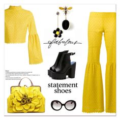"""Statement shoes....Platform ..."" by nihal-imsk-cam ❤ liked on Polyvore featuring Stella & Dot, Daizy Shely, Prada and statementshoes"