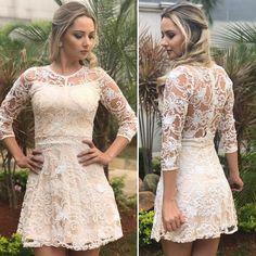 Vestido rendado na cor Off White! . Tamanhos: P, M e G! Pronta Entrega! . Vendas pelo Whats: 11.96603-2344 . Valor: R$159,90 . Site: www.sandrarezende.com.br . #UsoSR #vestido #moda #casamento #civil #voucasar #amei #lindo #noiva #noivado #festa #noivas #wedding #weddingdress #universodasnoivas http://gelinshop.com/ipost/1520391873688422435/?code=BUZhFqOlsgj