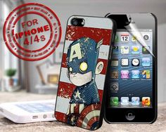 vintage captain america - design case for iphone 4,4s | shayutiaccessories - Accessories on ArtFire