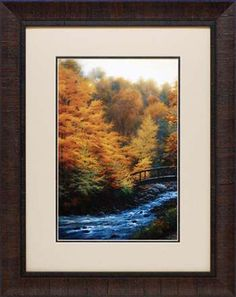 "Title: Autumn Stream Retail Price: $138.00 Artist: White, Charles Outside Dimension: 23x29 Frame: 2.5"" brown scoop Product Code: N1190"