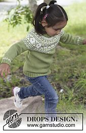 """Starshine / DROPS Children - Free knitting patterns by DROPS Design DROPS sweater knitted from top to bottom in """"Karisma"""" or """"Merino Extra Fine"""". Baby Knitting Patterns, Jumper Knitting Pattern, Jumper Patterns, Knitting For Kids, Crochet For Kids, Baby Patterns, Free Knitting, Drops Design, Cardigan Bebe"""