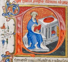 St. Jerome reads. Royal MS 1 E IX f. 253v
