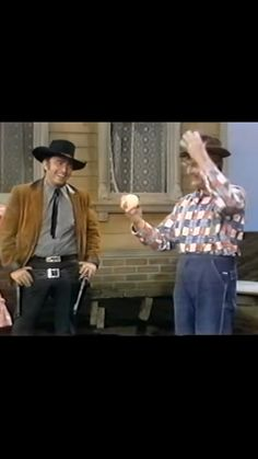 James Drury The Virginian and Red Selkton having fun. Doug Mcclure, James Drury, Actor James, The Virginian, Western Movies, Cowboys, Have Fun, Tv Shows, It Cast