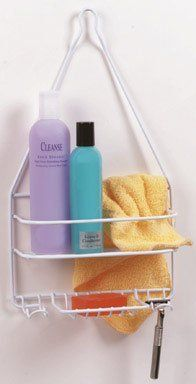 "Large Shower Caddy by SELFIX. $4.55. Great Gift Idea.; Manufactured to the Highest Quality Available.; Design is stylish and innovative. Satisfaction Ensured.. Just hang this large capacity space saver over your shower and end bathing clutter. Holds soap, shampoo, creme rinse, hair color, bath oils, deodorant, bathing cap, wash cloth, nail brush, within easy reach. Cushioned-coated steel frame will not rust. 18-1/2"" L. x 14-1/4"" W. x 4"" D.. Save 24% Off!"