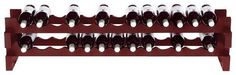 Wine Enthusiast - 26-Bottle Stackable Wine Rack Kit - Mahogany (Brown), 640 26 04